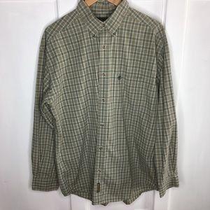Timberland Mens Plaid Button Down Checkered Shirt